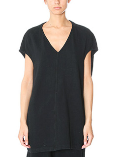 Rick Owens DRKSHDW-Floating top black cotton topwear