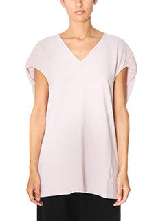 Rick Owens DRKSHDW-Top Floating pink cotton topwear