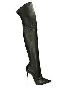Casadei-Blade black leather boots