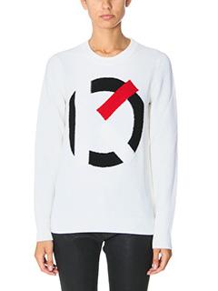 Kenzo-K Sweater white wool knitwear