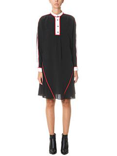Kenzo-Vestito in seta nera bianca rossa