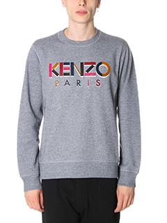 Kenzo-Felpa Kenzo Paris in cotone grigio