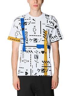 Kenzo-T-Shirt in cotone bianco