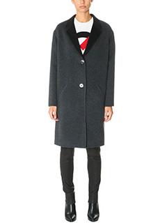 Kenzo-Cappotto Double Face in cashmere grigio nero
