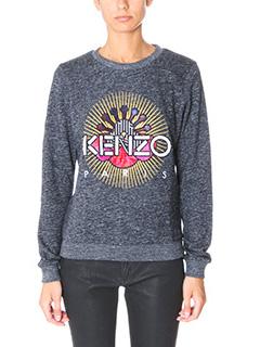 Kenzo-Felpa Tanami in cotone grigio melange