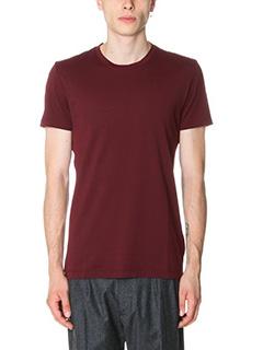 Low Brand-T-Shirt B 8 in cotone bordeaux