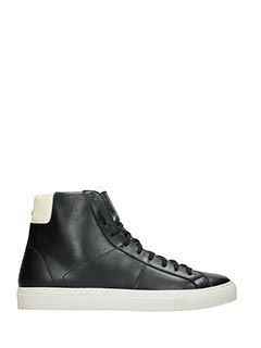 Low Brand-Sneakers Retro  High in pelle nera bianca