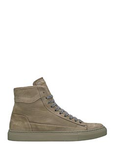 Low Brand-Sneakers Morris High in camoscio grigio