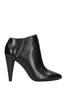 Ash-Beverly  black leather ankle boots