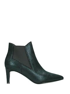 Ash-Drastic green leather ankle boots