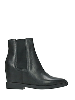 Ash-Gong black leather ankle boots