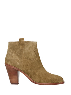 Ash-Ivana leather color suede ankle boots