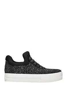 Ash-Sneakers Jaguar in tessuto glitter nero