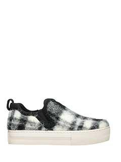 Ash-Sneakers Jessi in lana check grigia bianca