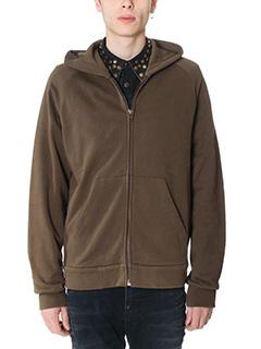 Givenchy-Felpa Zip  in cotone marrone