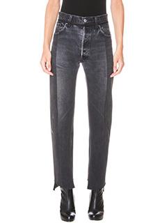 Vetements-Jeans Reworked in denim nero