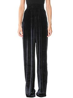 Vetements-Pantaloni in ciniglia nera