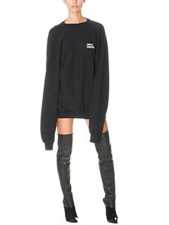 Vetements-Felpa Oversized in cotone nero