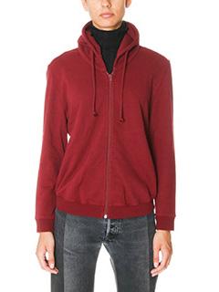 Vetements-bordeaux cotton sweatshirt