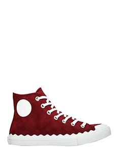 Chlo�-Sneakers in camoscio bordeaux