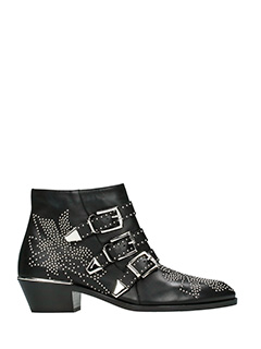 Chlo�-Susanna black leather ankle boots