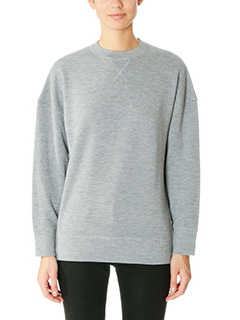 Balenciaga-Felpa in cotone grigio