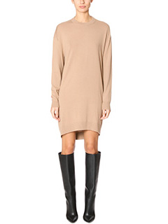Balenciaga-Vestito in lana cammello