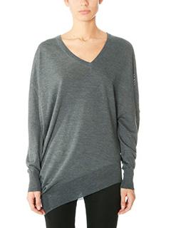 Balenciaga-grey wool knitwear