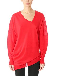 Balenciaga-red wool knitwear