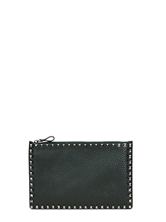 Valentino-Pochette Small in pelle nera