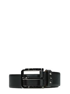 Valentino-Cintura Buckle in pelle nera