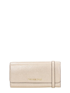 Michael Kors-gold leather wallet