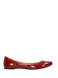 L'Autre Chose-red leather ballet flats