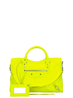 Balenciaga-Class city yellow leather bag