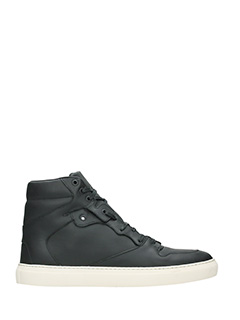 Balenciaga-Sneakers High in pelle nera