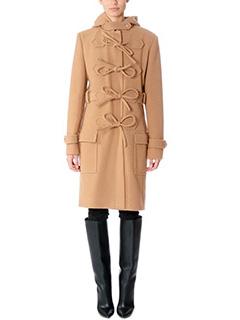 Balenciaga-Cappotto in lana cuoio