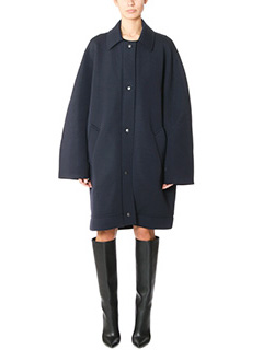 Balenciaga-Cappotto in lana blue