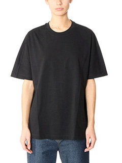 Balenciaga-black cotton t-shirt