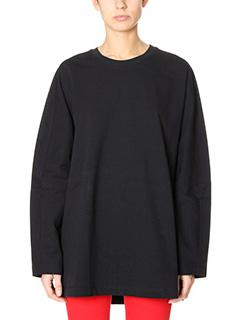 Balenciaga-black cotton knitwear