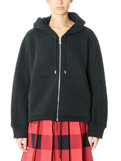 Balenciaga-black cotton sweatshirt