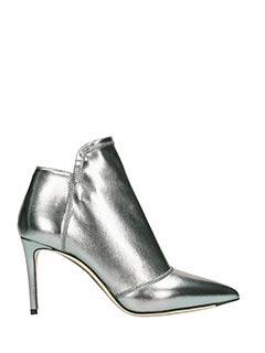 Grey Mer-Tronchetti  in pelle argento