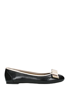 Michael Kors-Kiera ballet black leather ballet flats