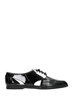 Michael Kors-Stringate Jensen Oxford in pelle e vernice nera