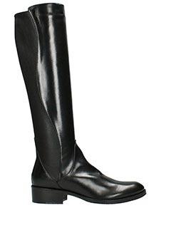 Lorenzo Masiero-Stivali Cavallerizza in pelle  e tessuto nero