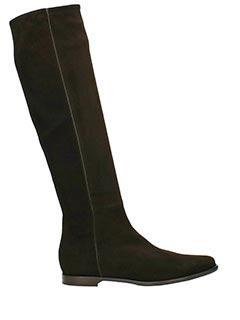 Lorenzo Masiero-Stivali Cavallerizza in camoscio  e tessuto testa di moro