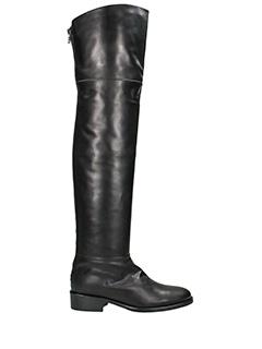 Lorenzo Masiero-Stivali Cavallerizza in pelle nera