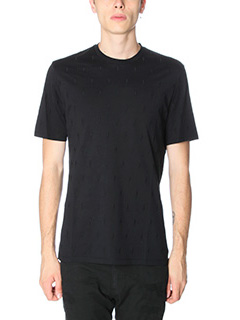 Neil Barrett-T-Shirt Thunder in cotone nero