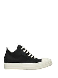 Rick Owens DRKSHDW-Sneakers Low in tessuto nero-lacci