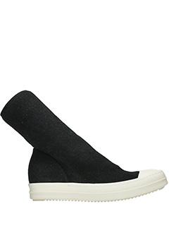 Rick Owens DRKSHDW-Sneakers Scuba in tessuto nero