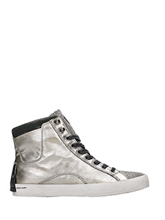 Crime-Sneakers alte in pelle argento